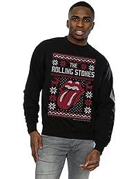Rolling Stones Herren Tongue Christmas Sweatshirt