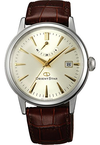 Orient star classic Power Reserve Automatik Kleid Uhr champagner Zifferblatt el05005s wz0271el