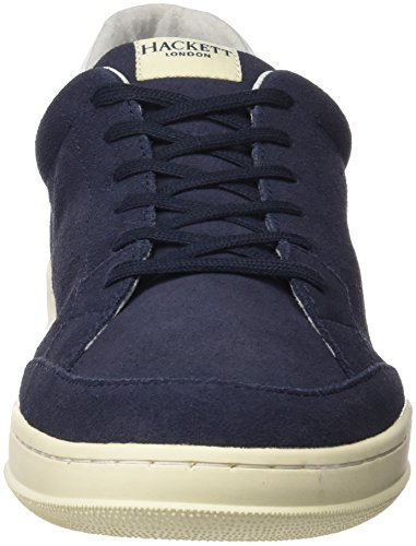 Hackett London Badminton Suede, Chaussures de Running Homme Bleu (Navy)