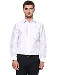 a5f83279101df Khoday Williams Men s Light Silver Poly Silk Solid Regular Fit Shirt (5000049-LIGHTSILVER-