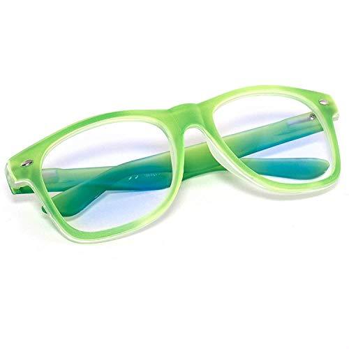 en Unisex Eyesight Strengthing Vision Care Verbessern Sie for kurzsichtige und weitsichtige Lesung Schutzbrille (Color : Grün) ()