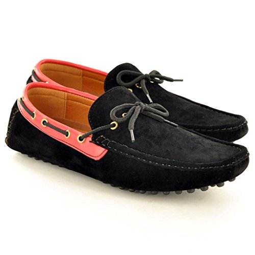 Herren Casual Slipper Mokassins Slipper Driving Schuhe Schwarz