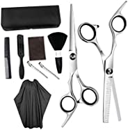 Minkissy 1 Set of Professional Barber Supplies Tool Set Scissor Neck Duster Comb Haircut Cape Apron Set for Home Salon