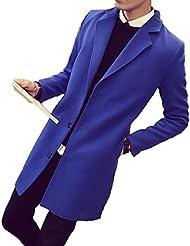 LQABW Chaqueta De Moda De La Chaqueta Del Abrigo De La Chaqueta De La Sección Larga De Los Nuevos Hombres Del Otoño,Blue-XXL
