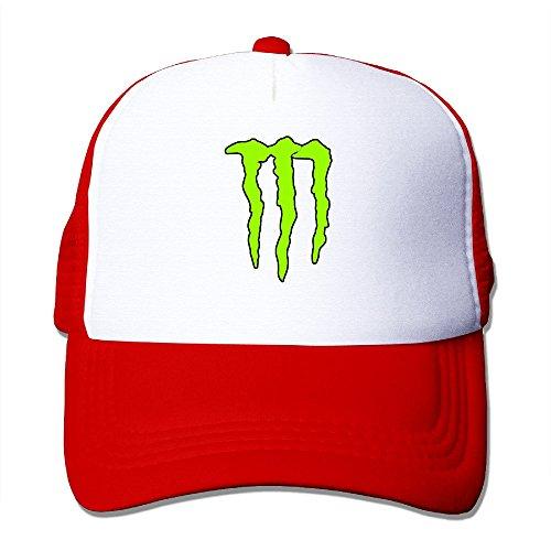 Sophie Warner verstellbar Unisex halb Netz Monster Green Logo Bucket Hat Schwarz...