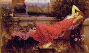 GFM Painting Handmade Oil Painting Reproductions of Ariadne,Oil Painting by John William Waterhouse - 16 By 20 inches