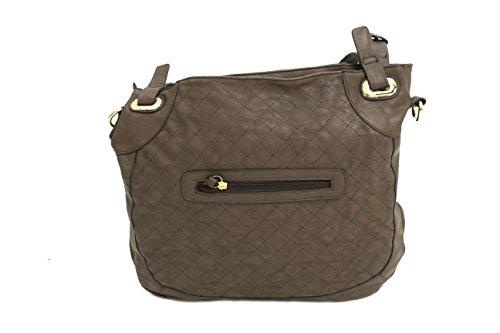 Cinghia delle signore delle borse italiane in pelle fatta borsa con tracolla Marrone