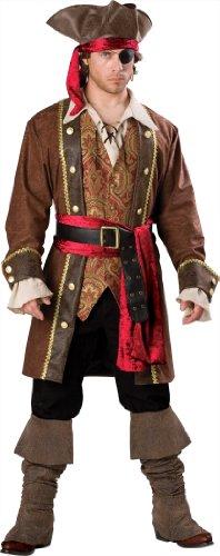 Generique - Piraten Kapitäns Kostüm für Herren - - Piraten Kapitän Adult Kostüm