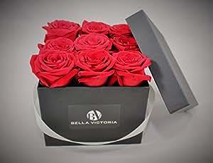 frische rosen in der box moderne rosenbox blumenbox flowerbox geschenkbox m quadratische. Black Bedroom Furniture Sets. Home Design Ideas
