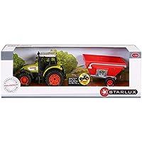 Starlux - Coffret Tracteur Claas Celtis 456 et Remorque à grains - Gamme Ferme - 1:32e