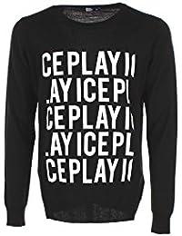 e6143c26ad76 Maglia Uomo Ice Play 2XL Nero A011 7098 Autunno Inverno 2017 18