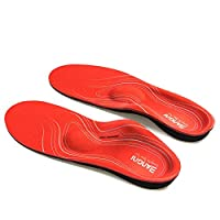 3ANGNI orthotic Shoes Insole High Arch Foot Support Soft Medical Functional insoles, Insert for Severe Flat Feet For Man And Woman, Red, UK-10-29CM