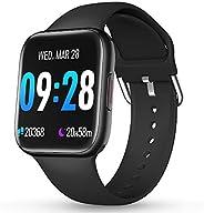 CatShin Smartwatch Orologio Fitness Uomo Donna IP69 Impermeabile Bluetooth Cardiofrequenzimetro da Polso Pedom