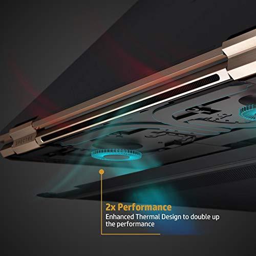 HP Spectre x360 Core i5 10th Gen 13-inch FHD Touchscreen Laptop (8GB/512 GB SSD/Windows 10/MS Office 2019/Dusk Black/1.27 kg), 13-aw0204TU Image 4