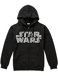 STAR WARS Rebel Logo & Text, Sudadera con Capucha para Hombre