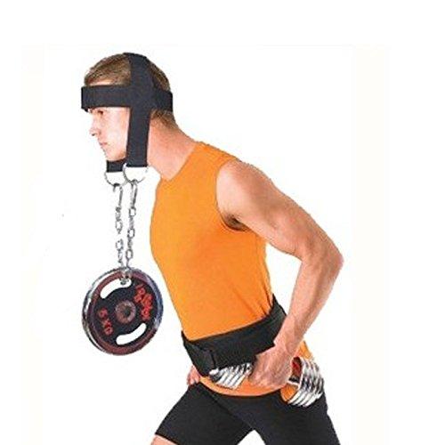 troxie (TM) entièrement réglable tête sangle en nylon Ceinture Harnais Cou Poids de levage d'exercice Résistance Sangle Body Building Sport Fitness Poids