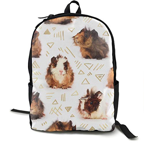 The Essential Guinea Pig Adult Premium Travel Backpack, Water-Resistant College School Bookbag, Sport Daypack, Outdoor Rucksack, Laptop Bag for Men&Women