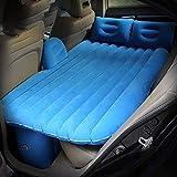 Letto gonfiabile dell'automobile, materasso di aria di viaggio del materasso di fila della parte posteriore dell'automobile SUV con la pompa di aria (colore: Blu)