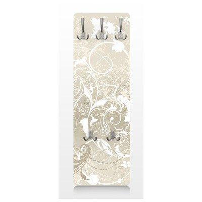 Apalis 67545 Wandgarderobe Perlmutt Ornament Design   Design Garderobe Garderobenpaneel Kleiderhaken Flurgarderobe Hakenleiste Holz Standgarderobe Hängegarderobe   139x46cm