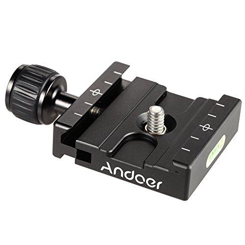 Andoer Adapter Piatto quadrato Pinza con torica per piastra a sgancio rapido per treppiedi Ball Head Arca Swiss RRS Wimberley - Piatto Jaw Elettronica Pinze