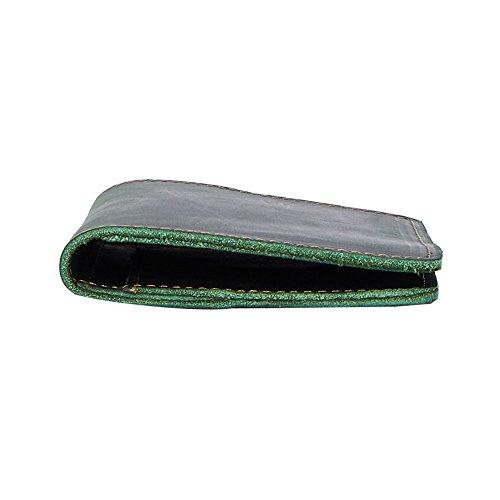 Organizer per documenti da viaggio, elegante e con sicurezza blocca RFID in pelle sintetica nera e 4 aperture per carta di credito.Custodia passaporto / porta passaporto da uomo e donna di Joyir.