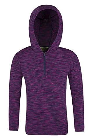 Mountain Warehouse Bella Half-Zip Kids Hoodie Purple 7-8 years