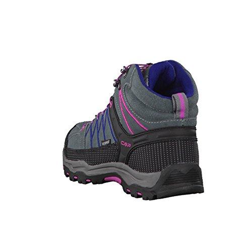 CMPRigel - Scarpe da trekking e da passeggiata Unisex – Adulto Grey-Hot Pink