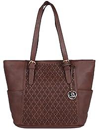 Fur Jaden Women's Brown Laser Cut Handbag