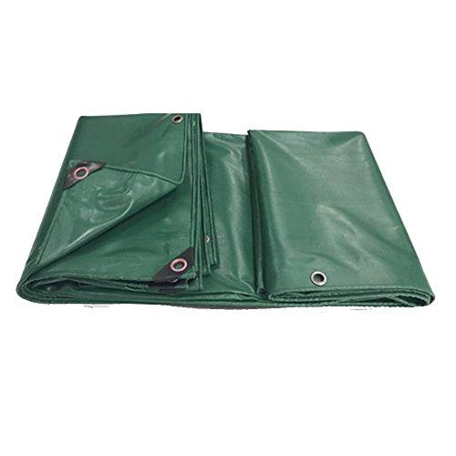 CCJW Regenjacke Plane PVC Regen Tuch Sonnencreme Plane Wasserdicht Sonnenschirm LKW Leinwand wasserdichte Plane Kunststofftuch Öldicht Plane Anti-Aging (Color : Green, 尺寸 Size : 3.8x3.8m)