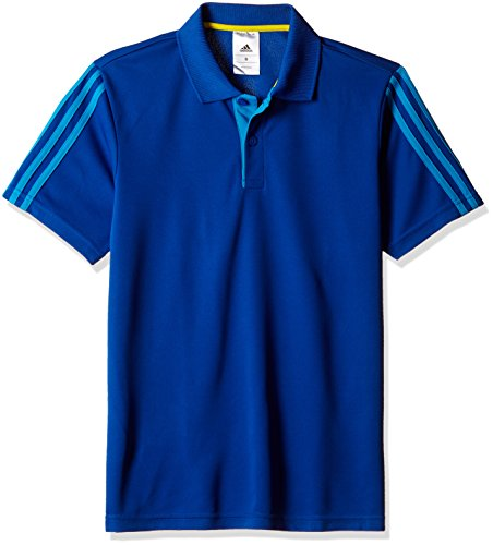 adidas Men's Synthetic Polo Shirts (4055007346794_S89140-Blue-M_Medium_Blue)