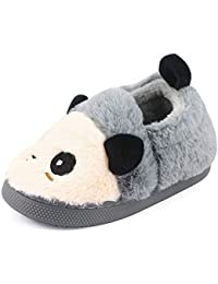 MK MATT KEELY para Niños Niñas Niños 3D Novedad Animal Carácter Zapatillas de Felpa Botines de Los Niños Zapatos de Panda Tamaño 26-33