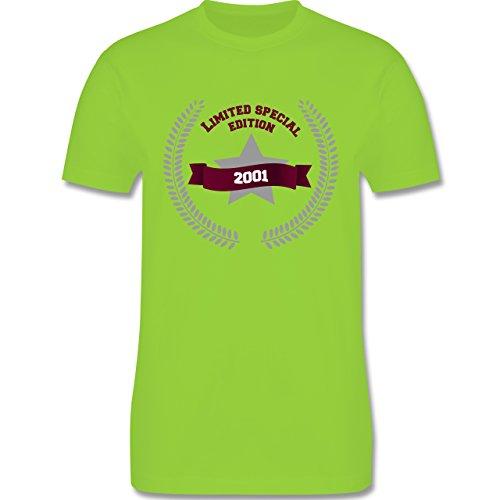 Geburtstag - 2001 Limited Special Edition - Herren Premium T-Shirt Hellgrün