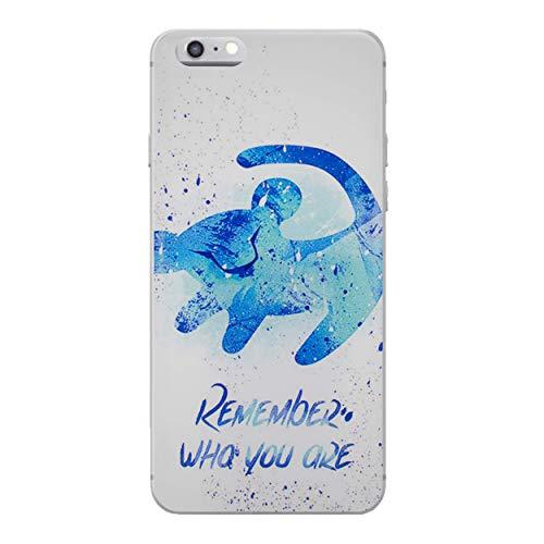 """I-CHOOSE LIMITED Le Roi Lion Coque Étui pour Téléphone pour Apple iPhone 6S Plus 6 Plus (5.5"""") avec Protecteur D'écran/Gel/TPU/Rappelles"""