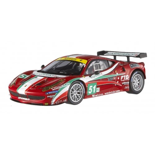 Hot Wheels Elite X5497- Ferrari 458 Italia gt2 24h Le Mans'11 AF Corse escala 1/43