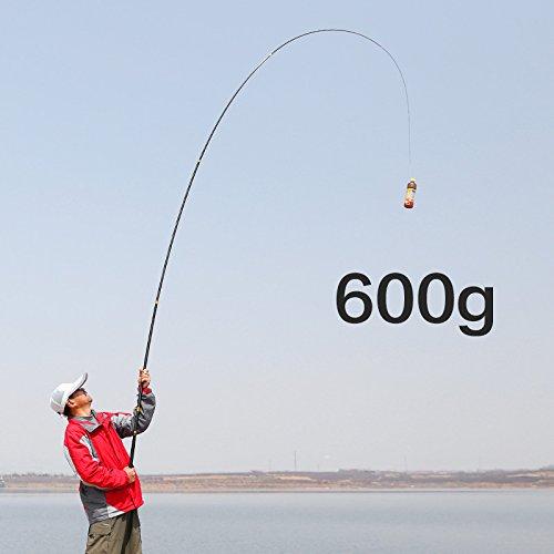 ZHUDJ Caña De Pesca Competitiva Super Ligero De Carbono Super Duro 28 Etapa Caña De Pescar De 5.4 Metros De Caña De Pescar, Hoyo Negro Caña De Pescar Carpas Pole,3,6 Metros De Plataforma De Carbono Caña De Pescar