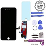 UBAYMAX Kit de Remplacement Ecran Compatible iPhone 7 Noir avec Outils Aimantés et LCD Tactile (Compatible iPhone 7 Black)