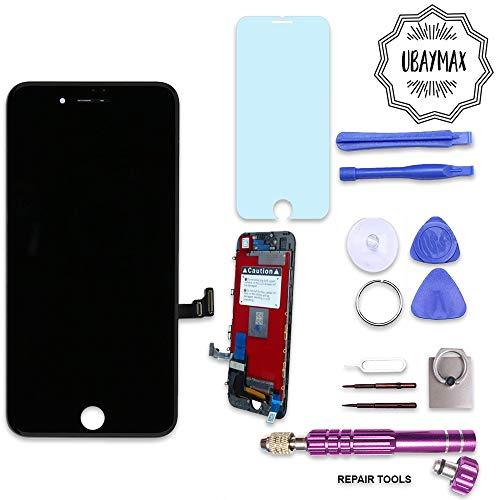 UBaymax Retina Display Ersatz Set kompatibel mit iPhone 7 Schwarz- Einfache Installation LCD Bildschirm mit Touchscreen Inkl. komplettem Werkzeug für Do-It-Yourself Reparatur Ersatz-set