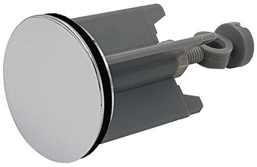 M&H-24 Waschbeckenstöpsel Abfluss-Stöpsel mit Edelstahl Haarfänger-Kette - für handelsüblichen Abfluss, Silber 40mm, Hochwertige Qualität