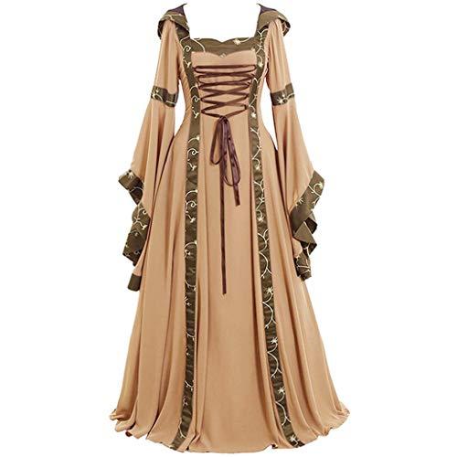 en kostüm viktorianischen Kleid Langarm Abendkleid Maskerade Cosplay Partykleid mittelalterlichen königin kostüm Elegante Frau Kleid ()