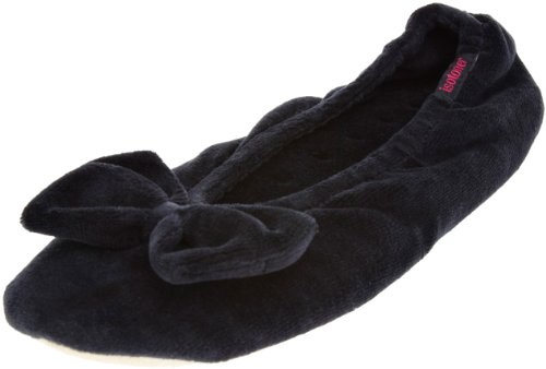 isotoner-velour-big-bow-ballerina-womens-low-top-slippers-black-black-m-uk