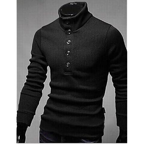 GS~LY Maglioni uomo MEN - Maglioni - Informale Rotondo - Maniche lunghe Cotone , black , m
