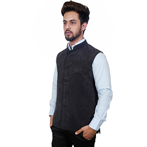 Masculine Affair Black Navy Nehru Jacket