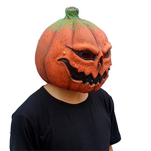 JUKUB Horror Red Kürbis Monster Maske Halloween Dekoration Kostüm Maske Cosplay Vollkopf Maske Latex