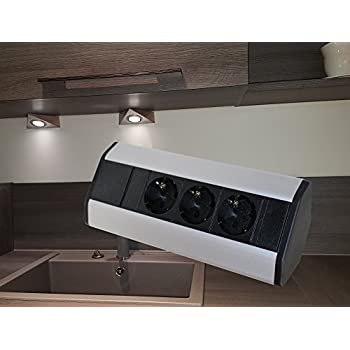 Möbel Steckdosen 2x USB Küchen Steckdose unterbausteckdose