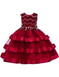 Abito da ragazza formale Gonna per bambini 2019 Vestito da ragazza vestito  da principessa gonna gonna di Natale per bambini abito da… 3eb10536228