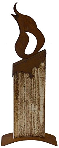 Metallmichl Edelrost 10er Set Rost Flamme geschwungen klein 14 cm hoch Moderne Variante