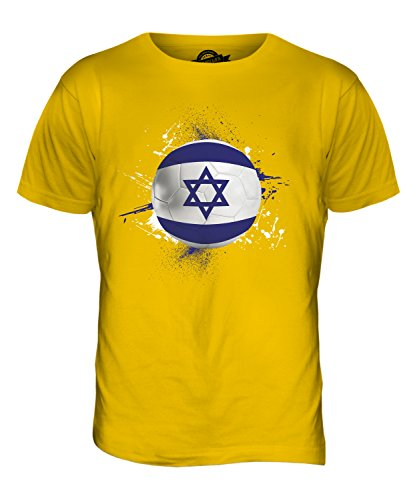 CandyMix Israel Fußball Herren T Shirt Dunkelgelb