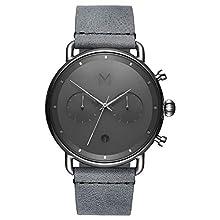 MVMT Mens Analogue Quartz Watch with Leather Calfskin Strap D-BT01-SGR