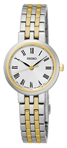 Seiko Women's Quartz Watch with Black Dial Analogue Display Quartz Stainless Steel SRZ462P1