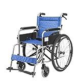 Y-L Rollstühle, die Leichtes Selbstfahrendes 22-Zoll-Rad mit Bremsen Zusammenklappen Rucksack Abnehmbare Räder für Ältere Menschen Reiserollstühle Maximales Gewicht 100 Kg